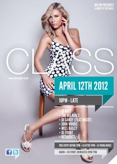 class - nightclub flyer