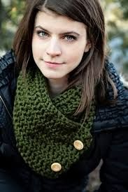 crochet scarf with button closure - Google Search