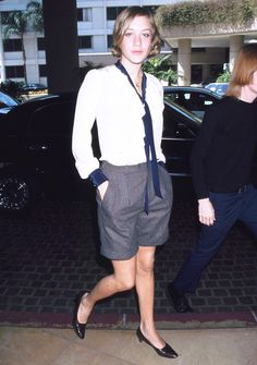 Chloë Sevigny in trouser shorts // throwback style