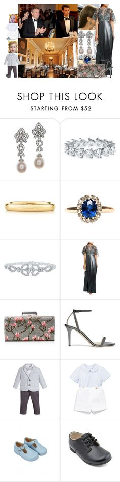 """Attending the wedding reception of Angela and Ziggy Hadleigh at Hadleigh House"" by lady-maud ❤ liked on Polyvore featuring Henry Dunay, Elsa Peretti, Harry Winston, Biyan, Judith Leiber and Jimmy Choo"