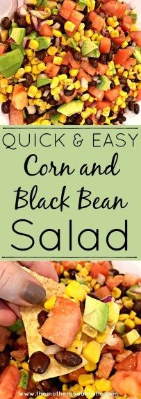 A Healthy, Quick and Easy Corn and Black Bean Salad!
