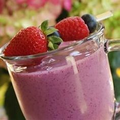 "Berry Delicious | ""I tried this recipe and it was delicious. With most smoothie recipes that I find and make, the banana takes over the recipe, and I'm not that big of a fan of bananas, but with this one it was wonderful."""