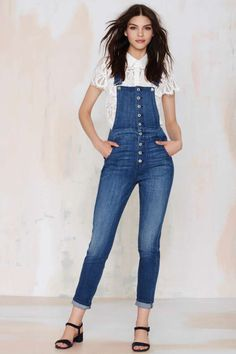 The 7 for All Mankind Janette Tapered Overalls are the one's you've been looking for all you summer shenanigans.