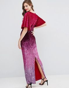 Buy ASOS RED CARPET Ombre Embellished Kaftan Maxi Dress at ASOS. With free delivery and return options (Ts&Cs apply), online shopping has never been so easy. Get the latest trends with ASOS now. Asos Sequin Dress, Costume, Kaftan, Lace Skirt, Fashion Online, Red Carpet, Latest Trends, Dress Up, Style Caftan
