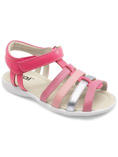 81414f84c Kai by See Kai Run Keli hot pink and silver strappy sandal