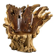 View this item and discover similar for sale at - 'Conch' chair in Madre Cacao wood by Alex Cayet, France, contemporary. Philippine Madre Cacao wood from fallen trees to avoid impacting on the natural Trunk Furniture, Rustic Log Furniture, Driftwood Furniture, Driftwood Art, Rustic Design, Wood Design, Art Sculpture, Wood Creations, Wood Crafts