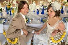 Bride and Groom chairs decorated with lemons! #wedding