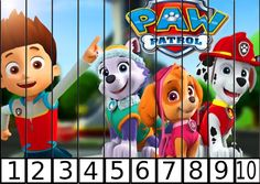 puzle de numeros 1-10 patrulla canina 2
