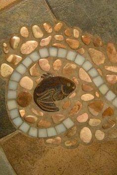 detail mosaic backsplash