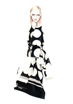 Fashion ilustration. Antonio Soares tumbrl. Stella McCartney FW 2014