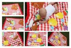This is so adorable! I can't wait till she starts crawling!!  Picnic baby play mat, waterproof play mat, baby activity mat, baby toys, summer outdoor play, playmat, baby mat, picnic blanket. $75.00, via Etsy.