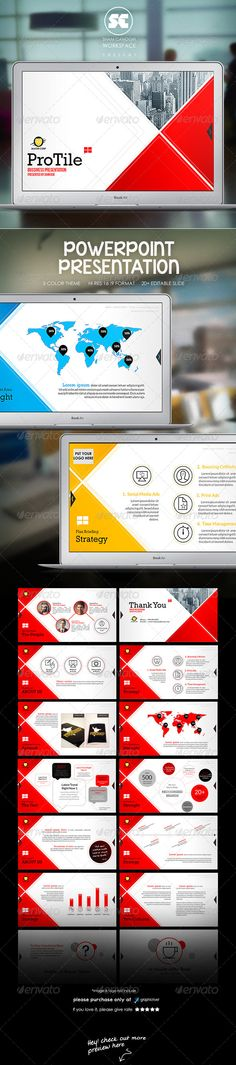ProTile : Modern Corporate Presentation (Powerpoint Templates) #Powerpoint #Powerpoint_Template #Presentation