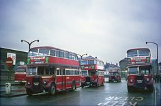 Barton buses at Nottingham Broad Marsh 1969