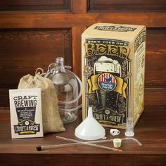 Includes everything you need to start brewing: Glass jug, tubing/clamp, rubber stopper, air lock, thermometer, funnel, racking cane, Guide to Craft Brewing and American Pale Ale Recipe kit Comes with Craft a Brew's Guide to Craft Brewing to teach you the art of brewing American Pale Ale Recipe kit included http://homebrewtrail.com/product/craft-beer-brewing-starter-kit-american-pale-ale/