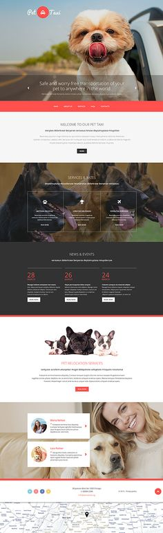 Pet's Taxi Services #website #template. #themes #business #responsive #websitethemes