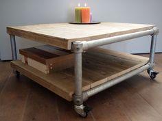 Houten meubels maken   Op eigen houtje meubelmaker Yvette Cappendijk  meubels op maat Black Pipe, Sweet Home, Woodworking, Diy Projects, Living Room, Kitchen, House, Furniture, Home Decor