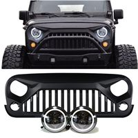 JEEP JK - PROJECTOR HEADLIGHTS HALO & VADER GRILLE COMBO PACK