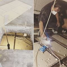We do what's needed to meet our clients expectations. Even if that's coring holes in the slab of #sierratowers and crawling through the unit below - very carefully - to make our plumbing  connections. #notagainsttherules #itsallowed #intensiondesign #plumbing #creative #makeithappen #dowhatsneeded #luxe #design #build #gladthatsnotme #oursubsarethebest #weho #westhollywood #custom