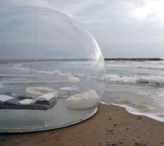 未来のアウトドア?シャボン玉モチーフの透明・球体な「バブル テント」 | Q ration(キューレーション) | QUAEL bags | クアエル