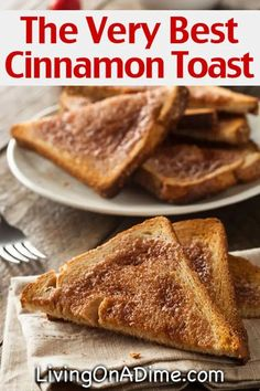 This oven cinnamon toast recipe is one of the kids' favorite breakfast items! It's a great way to get a nice crunchy top but the bread still stays soft. Best Cinnamon Toast Recipe, Cinamon Toast, Cinnamon French Toast, Cinnamon Bread, Cinnamon Toast Pioneer Woman, Pancakes Cinnamon, Cinnamon Hair, Cinnamon Desserts, Cinnamon Candy