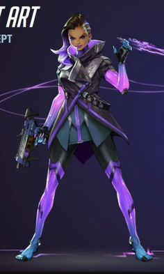 Overwatch hero Sombra. Final concept art.  Revealed at Blizzcon 2016.  ','