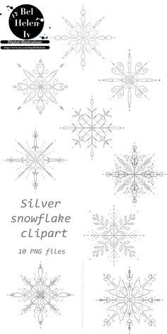 Snowflake Outline, Snowflake Images, Snowflakes Art, Snowflake Designs, Drawing Snowflakes, Simple Snowflake, Snow Tattoo, Snow Flake Tattoo, Christmas Clipart
