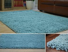 "DUCK EGG BLUE DENSE THICK LUXURY SHAGGY RUG SMALL MEDIUM LARGE 5 CM QUALITY RUGS (60x110cm (2' x 3'7"")) The Rug Shop UK http://www.amazon.co.uk/dp/B00KX2IWRS/ref=cm_sw_r_pi_dp_ccA.wb1XY74K1"