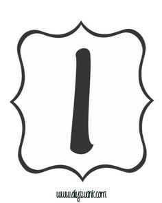 Free Printable Black and White Banner Letter_I