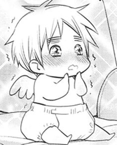 TINY BABY IGGY WITH DIAPERS AND LITTLE ANGEL WINGS I JUST --OH SWEET JESUS