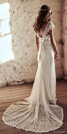 anna campbell 2018 bridal butterfly sleeves scoop neckline heavily beaded embellished bodice romantic elegant fit and flare wedding dress open v back short train (6) bv