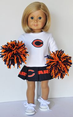 American Girl Clothes  Chicago Bears by LoriLizGirlsandDolls