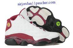 f79ecec07ee6 Femmes Air Jordan 13 GS Blanc Rouge Noir Chaussures Buy Jordans, Retro  Jordans, Cheap