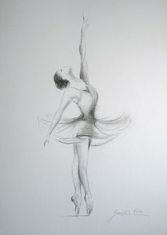 Introduction to Pencil Drawing Supplies & Techniques - Drawing On Demand Ballerina Kunst, Ballerina Drawing, Ballet Drawings, Ballerina Painting, Dancing Drawings, Cool Drawings, Drawing Sketches, Pencil Drawings, Ballerina Tattoo