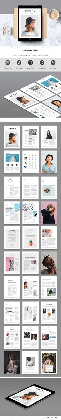 EMagazine — InDesign INDD #lifestyle #mag • Download ➝ https://graphicriver.net/item/emagazine/19588975?ref=pxcr
