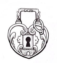 Lock by TheMightySmoosh on DeviantArt -Heart Lock by TheMightySmoosh on DeviantArt - Cute Coloring Pages, Adult Coloring Pages, Coloring Books, Key Drawings, Cute Drawings, Lock Key Tattoos, Lock Tattoo, Lock Drawing, Key Tattoo Designs