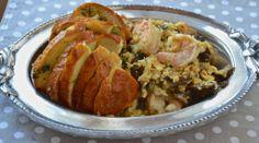 Huevos revueltos con pan de ajo Huevos Fritos, Baked Potato, Rica Rica, Pork, Meat, Baking, Breakfast, Ethnic Recipes, Deviled Eggs