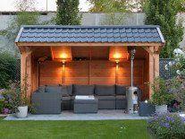 37 inšpiratívnych altánkov a prístreškov, ktoré vám pomôžu vybrať ten váš - sikovnik.sk Backyard Seating, Backyard Pergola, Garden Seating, Outdoor Seating, Backyard Landscaping, Pergola Ideas, Patio Ideas, Concrete Patios, Carport Designs