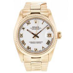 Rolex Datejust President 30mm Mid-Size 6827 18k Yellow Gold Wrist Watch Unisex #Rolex #LuxurySportStyles