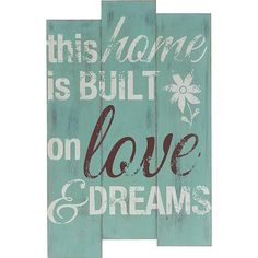 Sfeervolle wanddeco met tekst 'This home is built on love Kwantum