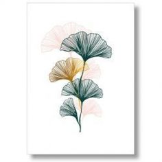 Want to bring an original vegetal touch into your interior? Decorate your walls with poster design and graphic ginkgo leaves by the French brand Comme ci Comme ça! Source by aminasoumah Plant Illustration, Botanical Illustration, Poster Art, Flower Doodles, Leaf Art, Art Deco Design, Graphic, Art Inspo, Art Drawings