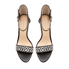 WIDE - HEEL SANDAL WITH ANKLE STRAP - Shoes - Woman | ZARA United States