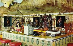 vintage postcard of The Mokihana Bar, Kauai The bar is gone. the Bull Shed Restaurant is still there. Vintage Tiki, Vintage Hawaii, Vintage Surf, Kauai Hawaii, Hawaii Travel, Bamboo Bar, Disney Enchanted, Tiki Lounge, Tiki Room