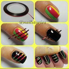 Rasta inspired nails