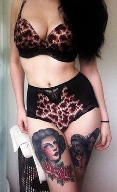I have fallen in love with this pinup style lingerie. Deal breaker was the leopard print x