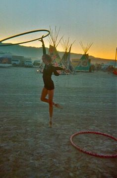Have fun with hula hoops! #Festival
