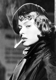 Available now at: www.etsy.com/shop/vintageimagerystore Ingrid Bergman, Old Hollywood Glamour, Classic Hollywood, Hollywood Glamour Photography, Vintage Hollywood, People Smoking, Women Smoking, Smoking Ban, Black And White