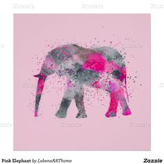 Elefante cor-de-rosa poster