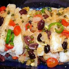 Veracruz-Style Red Snapper - My suggestion is to only use 1 lime. I also eliminated the olives and caper juice, to reduce the amount of sodium.