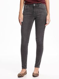 Old Navy - Mid-Rise Built-In-Sculpt Rockstar Jeans For Women in Stone Lake, $49.94