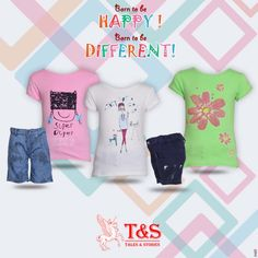 Born to be happy and different. #kidswear #talesandstories #happygolucky